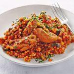 Spring chicken paella