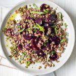 Chopped herb & pomegranate salad