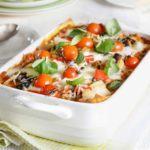 Lighter vegetable lasagne