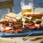 Mackerel club sandwich