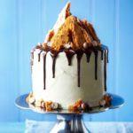 Malted chocolate drip cake