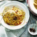 Marmite & pancetta spaghetti