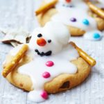 Melting snowman biscuits