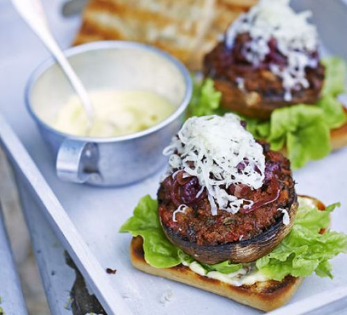 Chickpea & coriander burgers Recipe