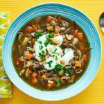 Mushroom & potato soup