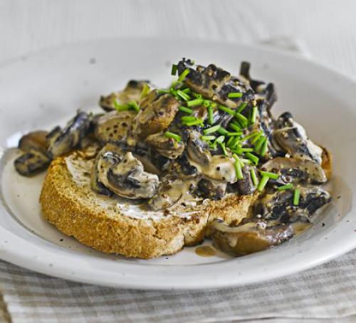 Ham, mushroom & spinach frittata