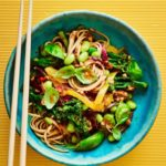 Sticky noodles with homemade hoisin