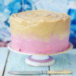 Raspberry caramel ombre cake