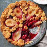 Pear & berry pie