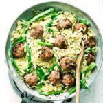 Asparagus & meatball orzo