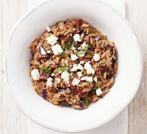 Beetroot orzotto Recipe
