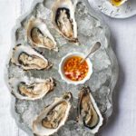 Oysters with apple & horseradish dressing