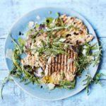 Paillard of chicken with lemon & herbs