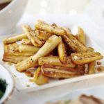 Salted caramel parsnips
