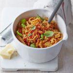 Roast pepper pesto with pasta