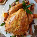 Perfect pancetta & roast shallot-stuffed turkey