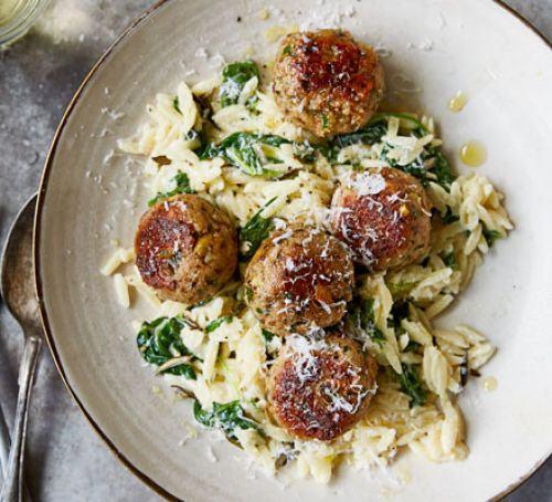 Pheasant meatballs with orzo Recipe