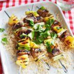 Pineapple & pork skewers