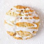 Pistachio scones with a lemon glaze