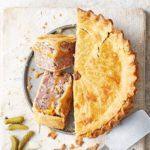 Ploughman's pork & cheese picnic pie