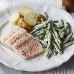 Poached salmon with tarragon