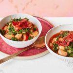 Prosciutto, kale & butter bean stew