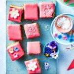 Raspberry & pistachio tea cake