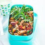 Ratatouille pasta salad with rocket