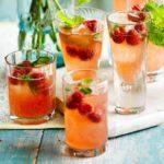 Raw raspberry shrub