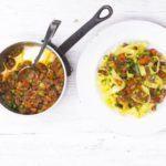 More veg, less meat summer Bolognese