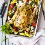 Roast chicken with peppers & feta