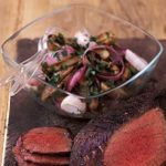 Grilled red onion & potato salad