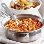 Better-than-baked beans with spicy wedges