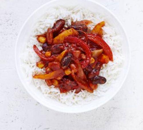 Bean & pepper chilli Recipe