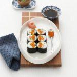 Salmon & cucumber sushi rolls