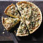 Leek & Caerphilly crumble tart