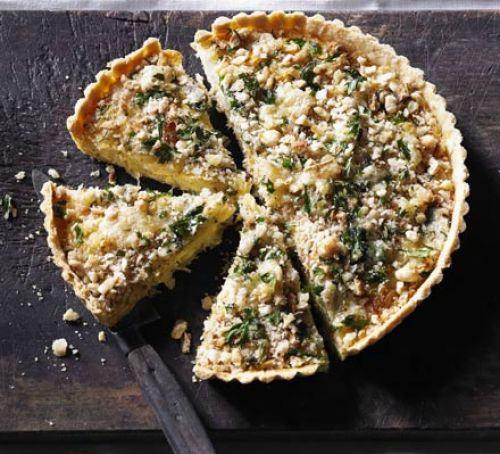 Leek & Caerphilly crumble tart Recipe
