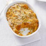 Baked carrot & sweet potato mash