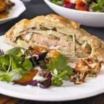 Salmon & herby potato coulibiacs