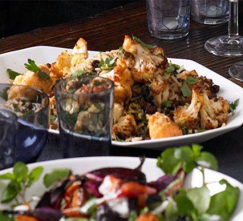 Cauliflower, rice & lentil salad Recipe