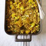 Roast cauliflower & hazelnut pilaf