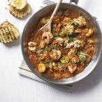 Prawn & tomato stew with gremolata topping