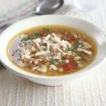 Porcini, pancetta & spelt soup