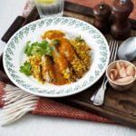 Katsu pork with sticky rice