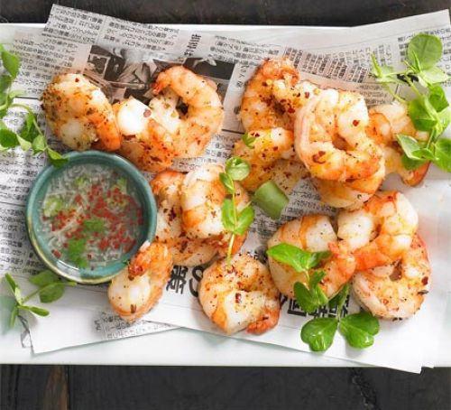 Salt & pepper prawns Recipe
