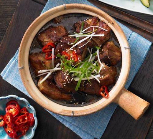Three-hour pork belly Recipe