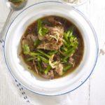 Chicken, ginger & green bean hotpot