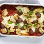 Meatball & mozzarella bake