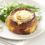 Three-cheese souffles