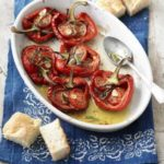 Roasted peppers with tomatoes & anchovies